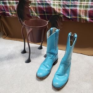 Justin kids turquoise boots